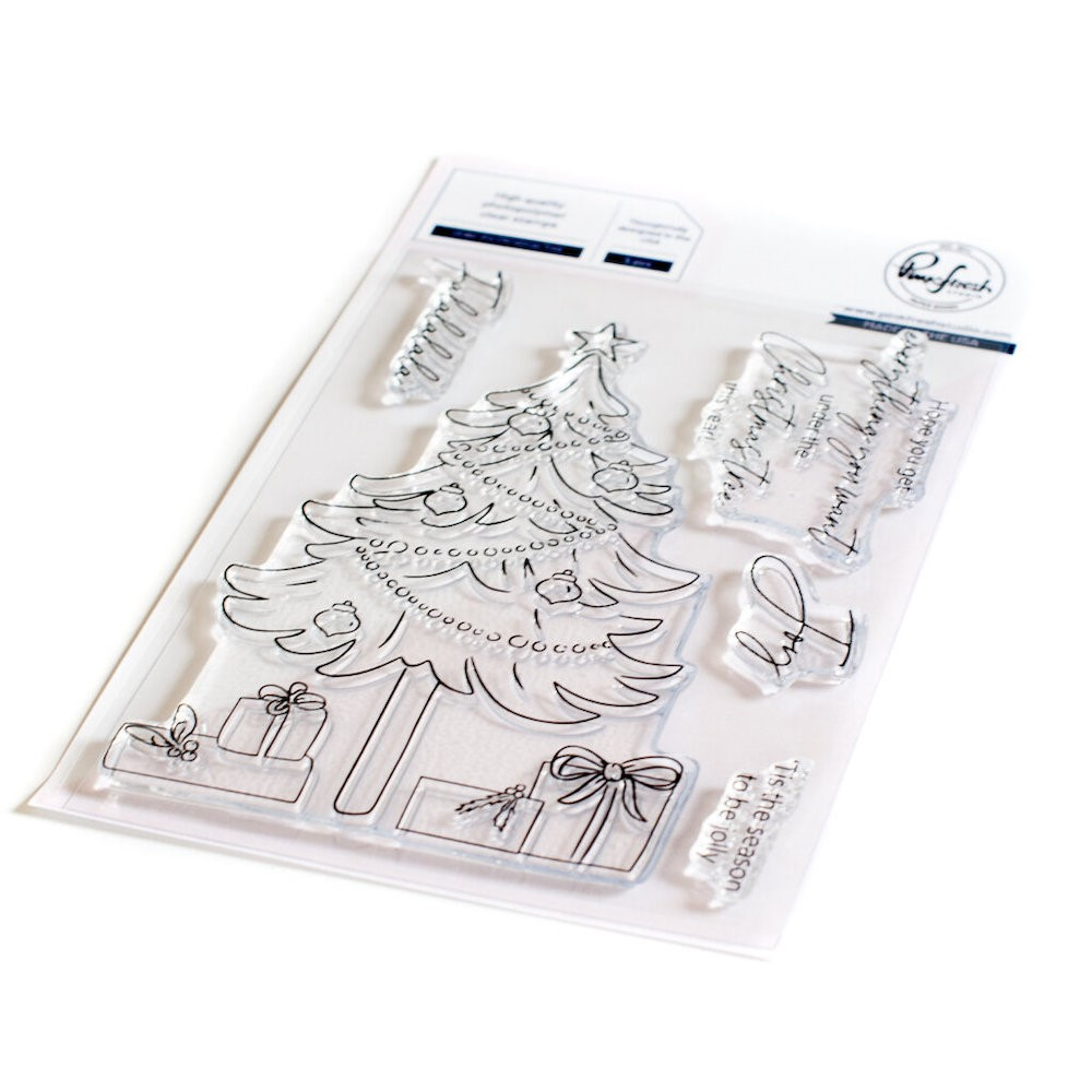 PinkFresh Studio UNDER THE CHRISTMAS TREE Clear Stamp Set 126921 zoom image