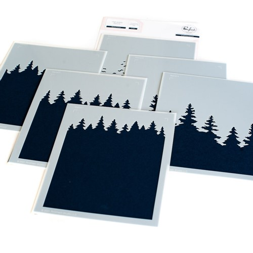 PinkFresh Studio WINTER FOREST Layering Stencil Set 127221 Preview Image