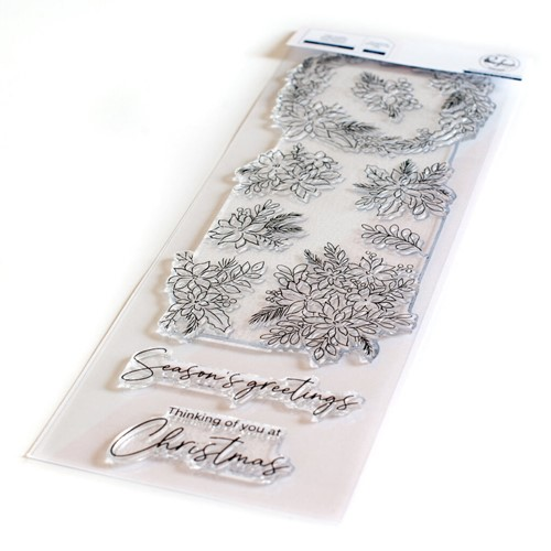 PinkFresh Studio POINSETTIA Clear Stamp Set 127321 Preview Image