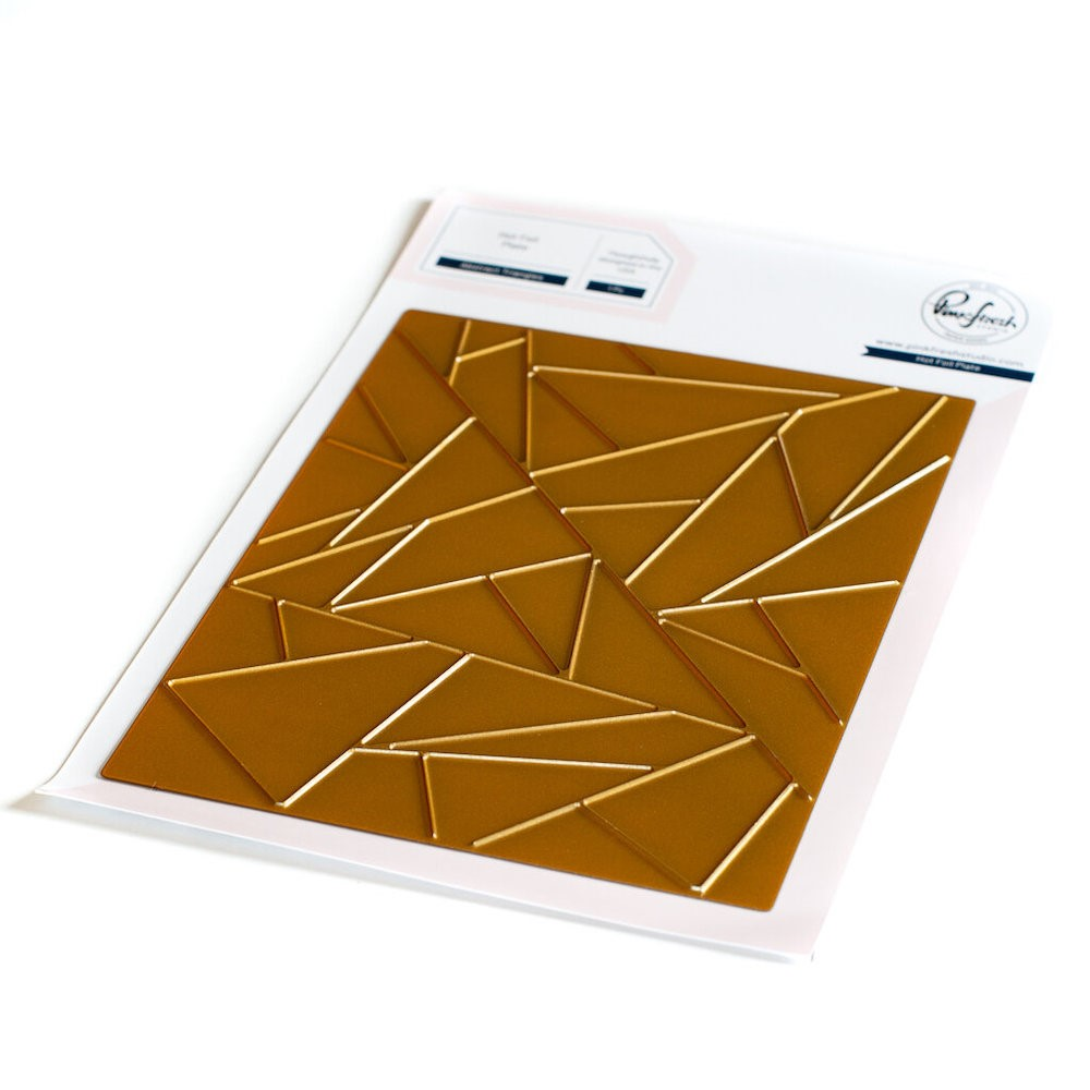 PinkFresh Studio ABSTRACT TRIANGLES Hot Foil Plate 128721 zoom image