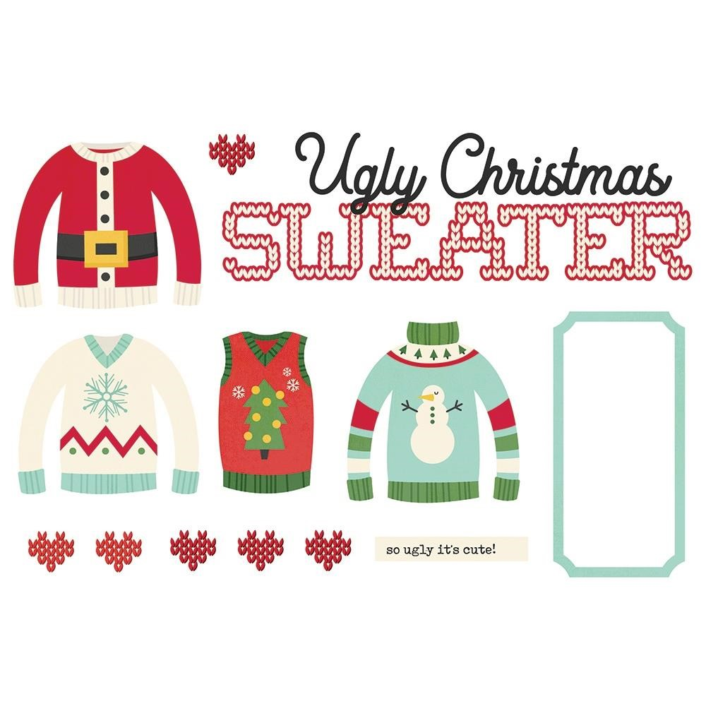 Simple Stories UGLY CHRISTMAS SWEATER Page Pieces 15950 zoom image
