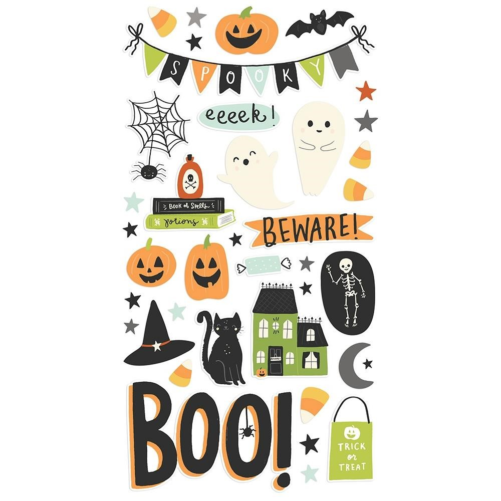 Simple Stories SPOOKY NIGHTS 6 x 12 Chipboard Stickers 16415 zoom image