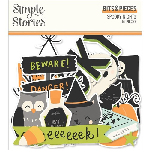 Simple Stories SPOOKY NIGHTS Bits And Pieces 16416 Preview Image
