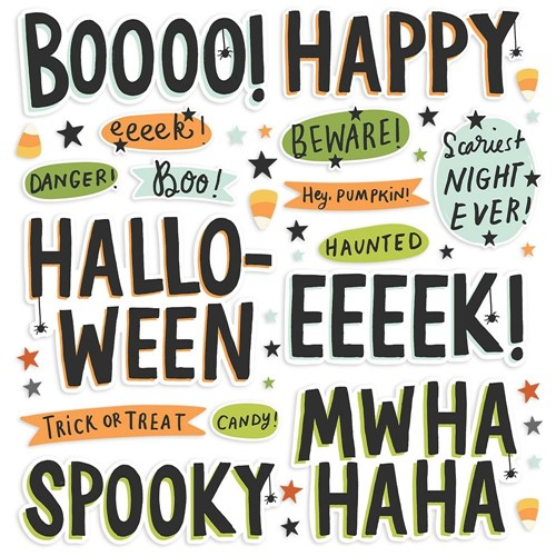 Simple Stories SPOOKY NIGHTS Foam Stickers 16418 Preview Image