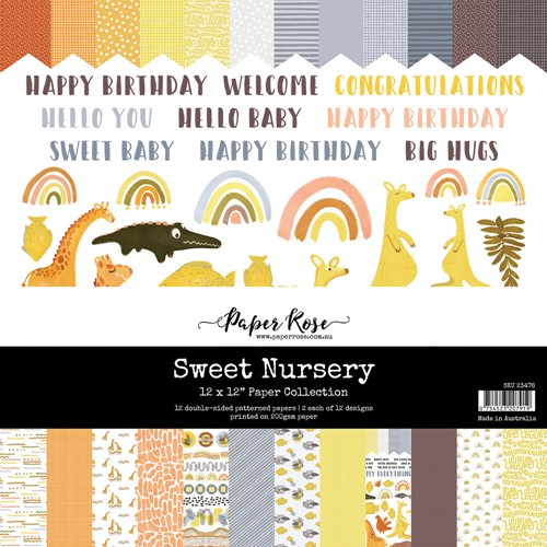 Paper Rose SWEET NURSERY 12x12 Paper Pack 23476 Preview Image