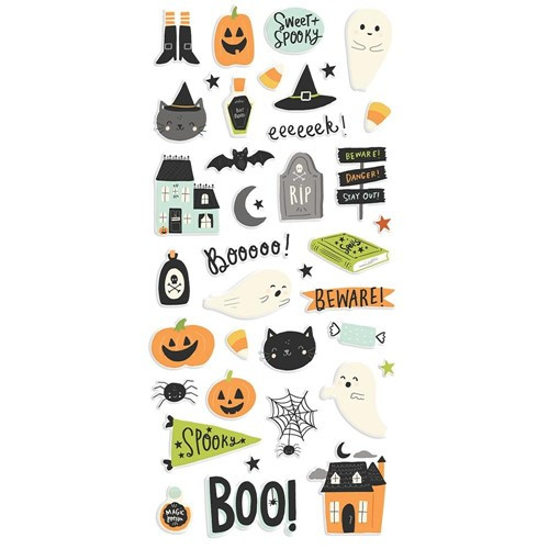 Simple Stories SPOOKY NIGHTS Puffy Stickers 16419 Preview Image