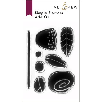 Altenew SIMPLE FLOWERS ADD ON Clear Stamps ALT6441