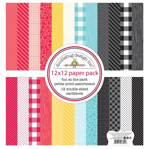 Doodlebug FUN AT THE PARK 12x12 Inch Petite Print Assortment Pack 7341 Preview Image