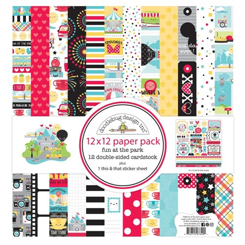 Doodlebug FUN AT THE PARK 12x12 Inch Paper Pack 7340 Preview Image