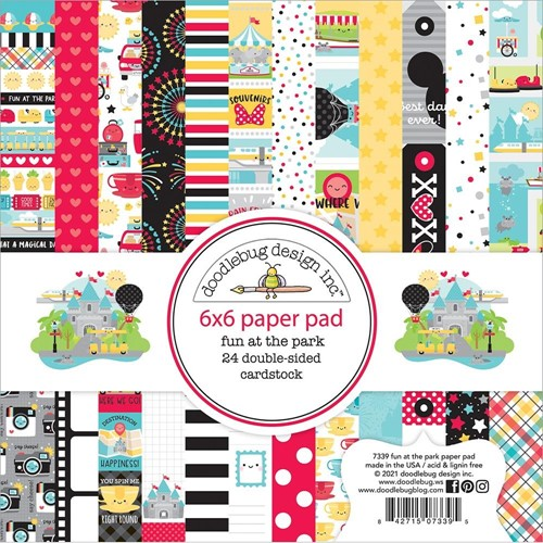 Doodlebug FUN AT THE PARK 6x6 Inch Paper Pad 7339 Preview Image