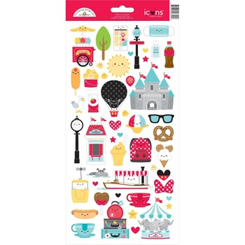 Doodlebug FUN AT THE PARK Icons Cardstock Stickers 7325