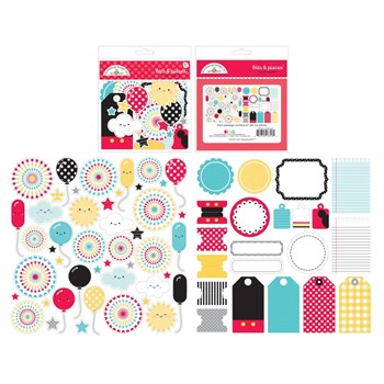 Doodlebug FUN AT THE PARK BITS AND PIECES Die Cut Shapes 7318