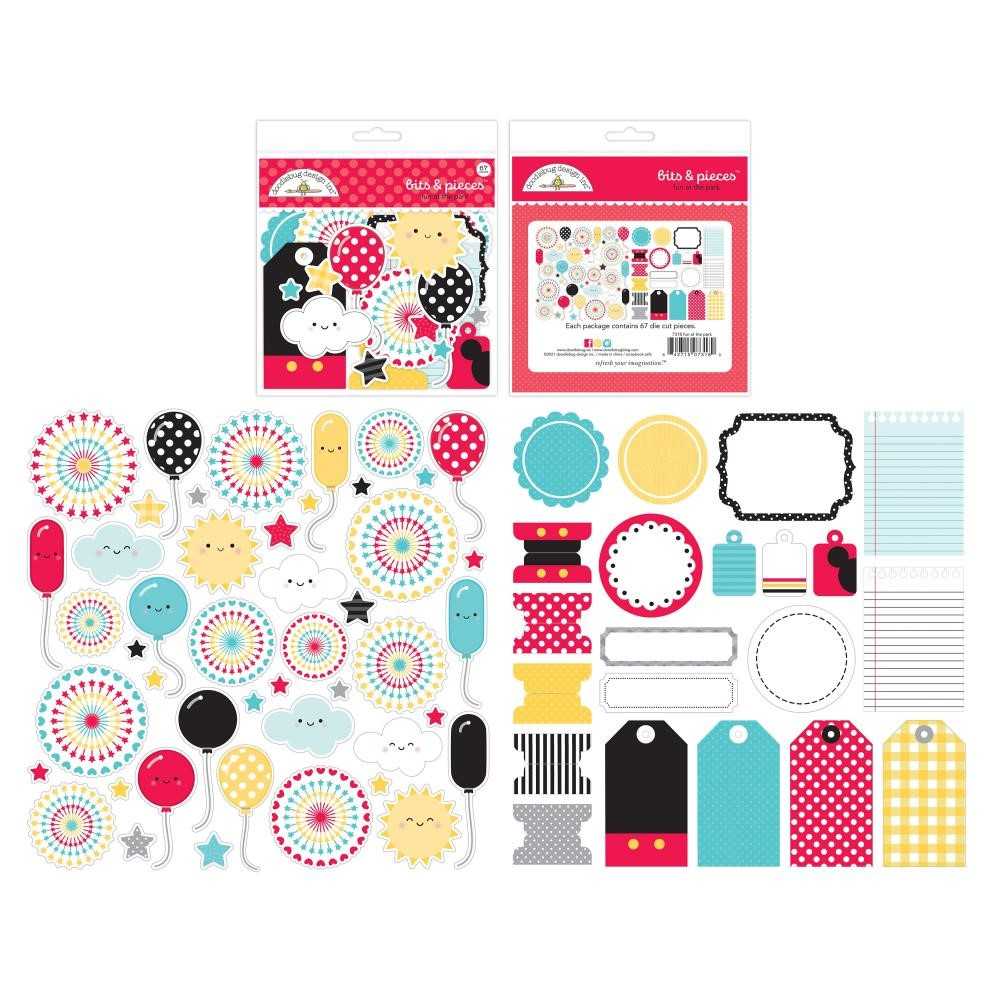 Doodlebug FUN AT THE PARK BITS AND PIECES Die Cut Shapes 7318 zoom image