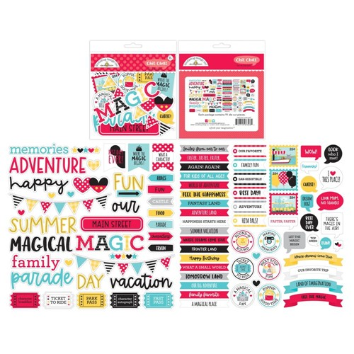 Doodlebug FUN AT THE PARK Chit Chat Die Cut Pieces Ephemera 7323 Preview Image