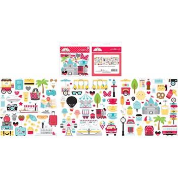 Doodlebug FUN AT THE PARK ODDS AND ENDS Ephemera Die Cut Shapes 7322