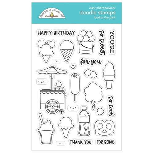 Doodlebug FOOD AT THE PARK Clear Stamps 7316 Preview Image