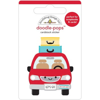 Doodlebug ARE WE THERE YET Doodle Pops 3D Sticker 7305
