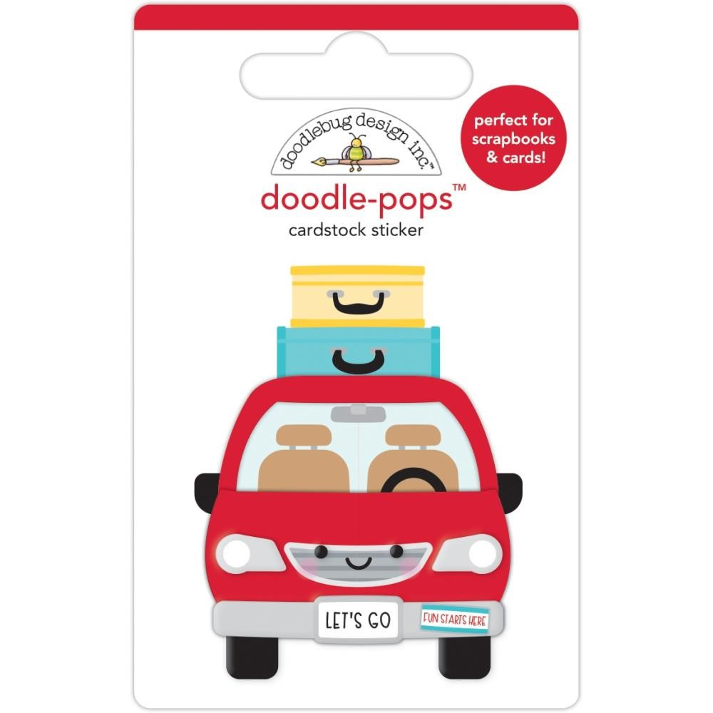 Doodlebug ARE WE THERE YET Doodle Pops 3D Sticker 7305 zoom image