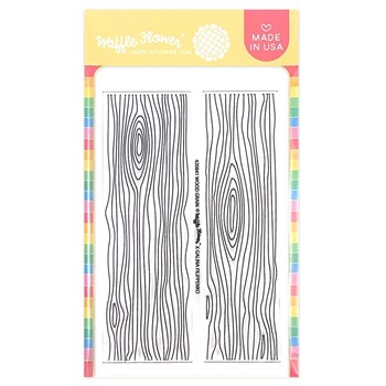 Waffle Flower WOOD GRAIN Clear Stamp 420821