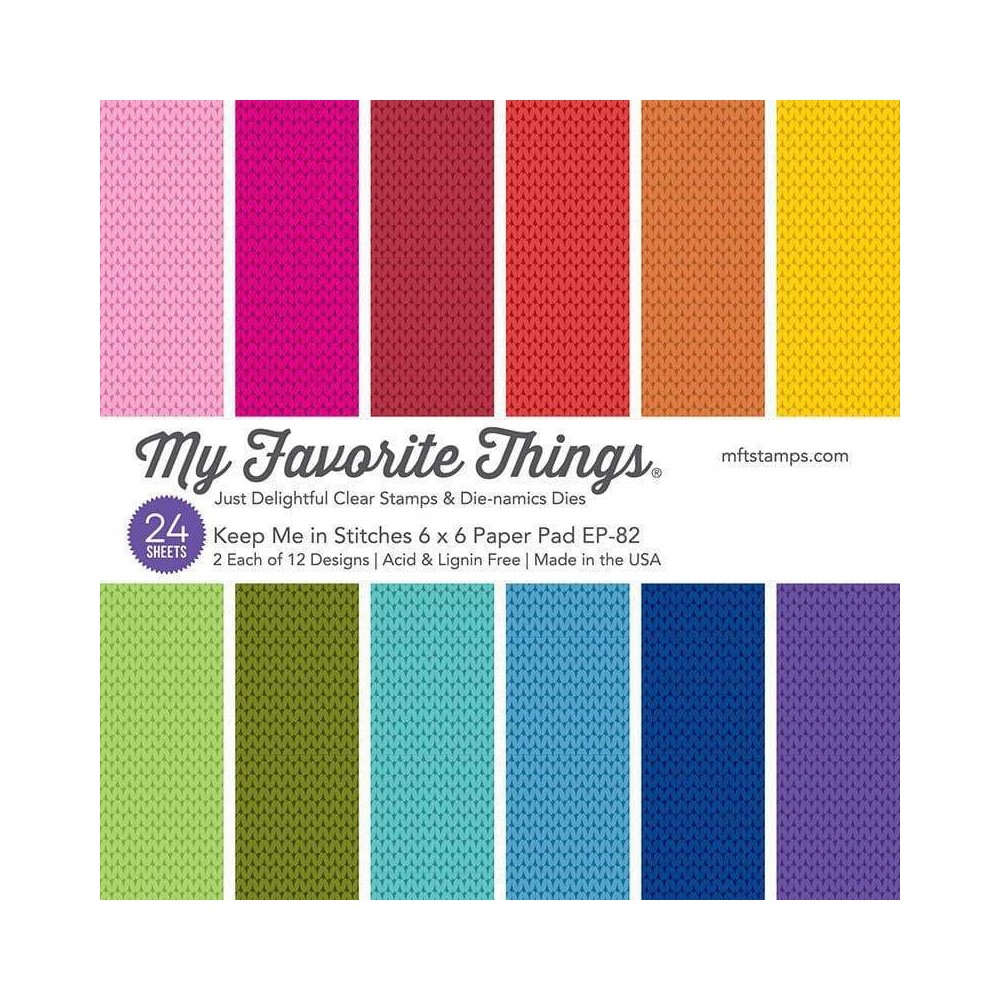My Favorite Things KEEP ME IN STITCHES 6x6 Inch Paper Pad ep82 zoom image