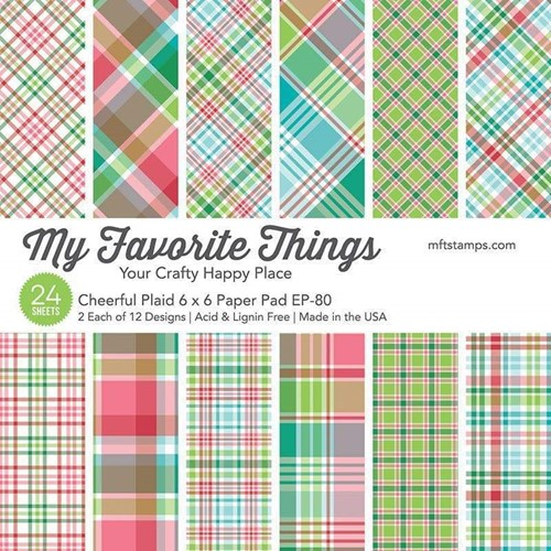 My Favorite Things CHEERFUL PLAID 6x6 Inch Paper Pad ep80 Preview Image