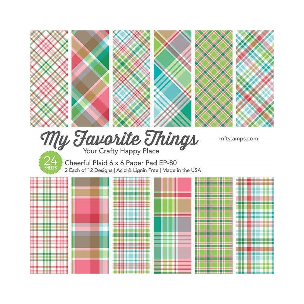 My Favorite Things CHEERFUL PLAID 6x6 Inch Paper Pad ep80 zoom image