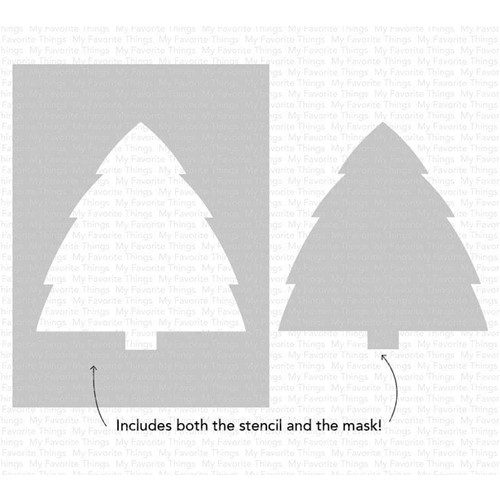 My Favorite Things CHRISTMAS TREE BACKGROUND Stencil st161 Preview Image