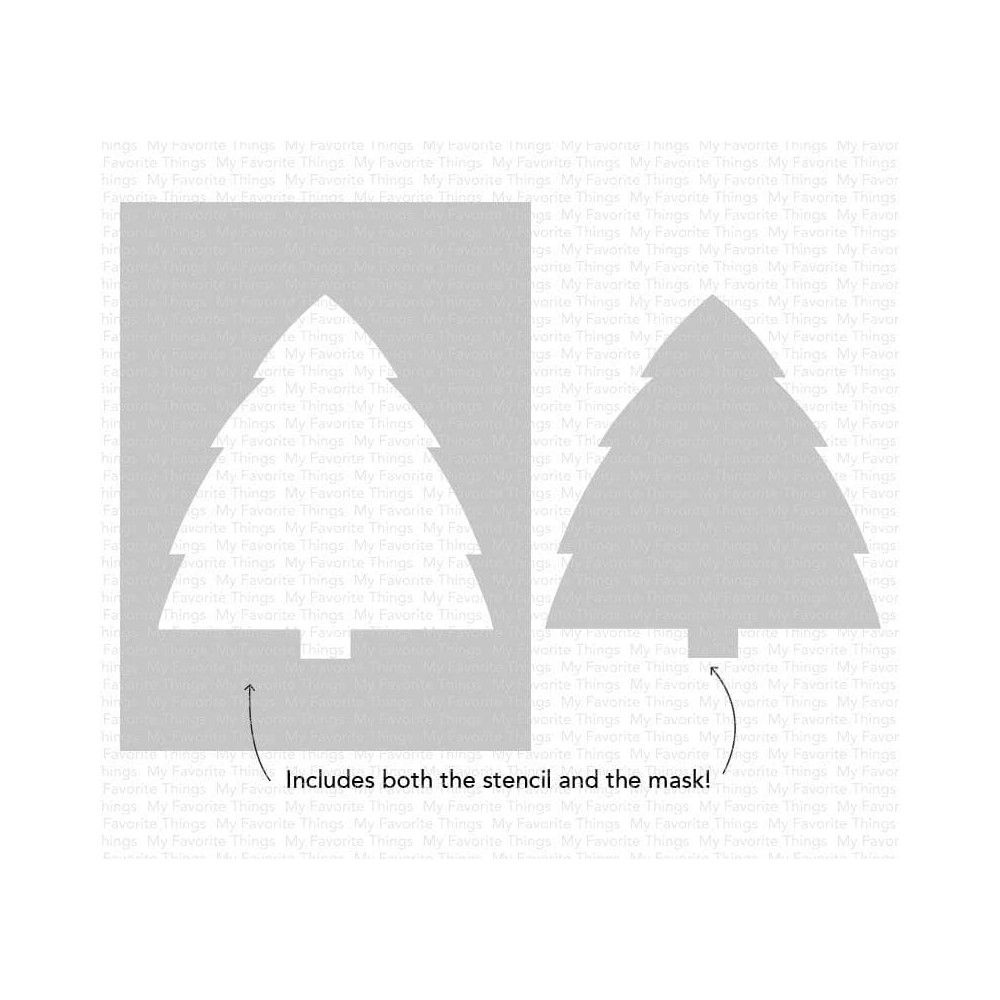 My Favorite Things CHRISTMAS TREE BACKGROUND Stencil st161 zoom image