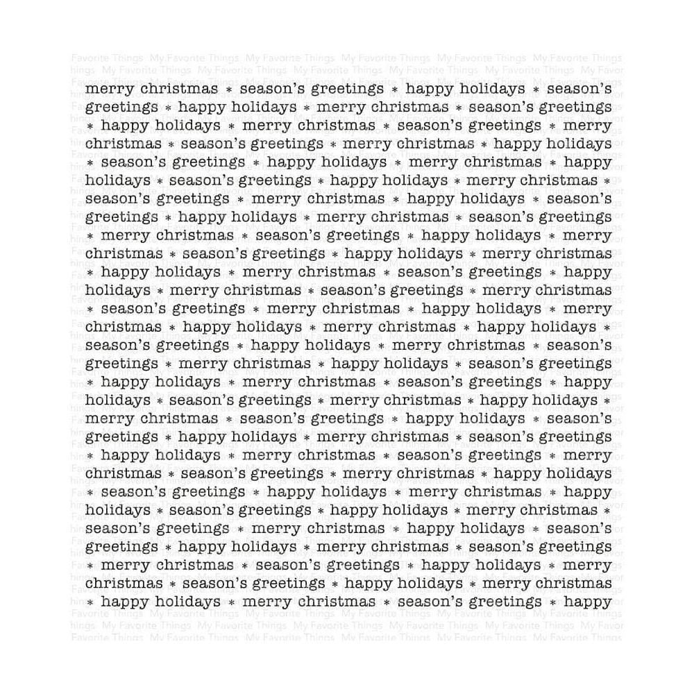 My Favorite Things CHRISTMAS GREETINGS BACKGROUND Cling Stamp bg149 zoom image