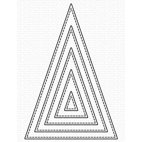 My Favorite Things STITCHED TALL TRIANGLE STAX Dies Die-Namics mft2106 Preview Image