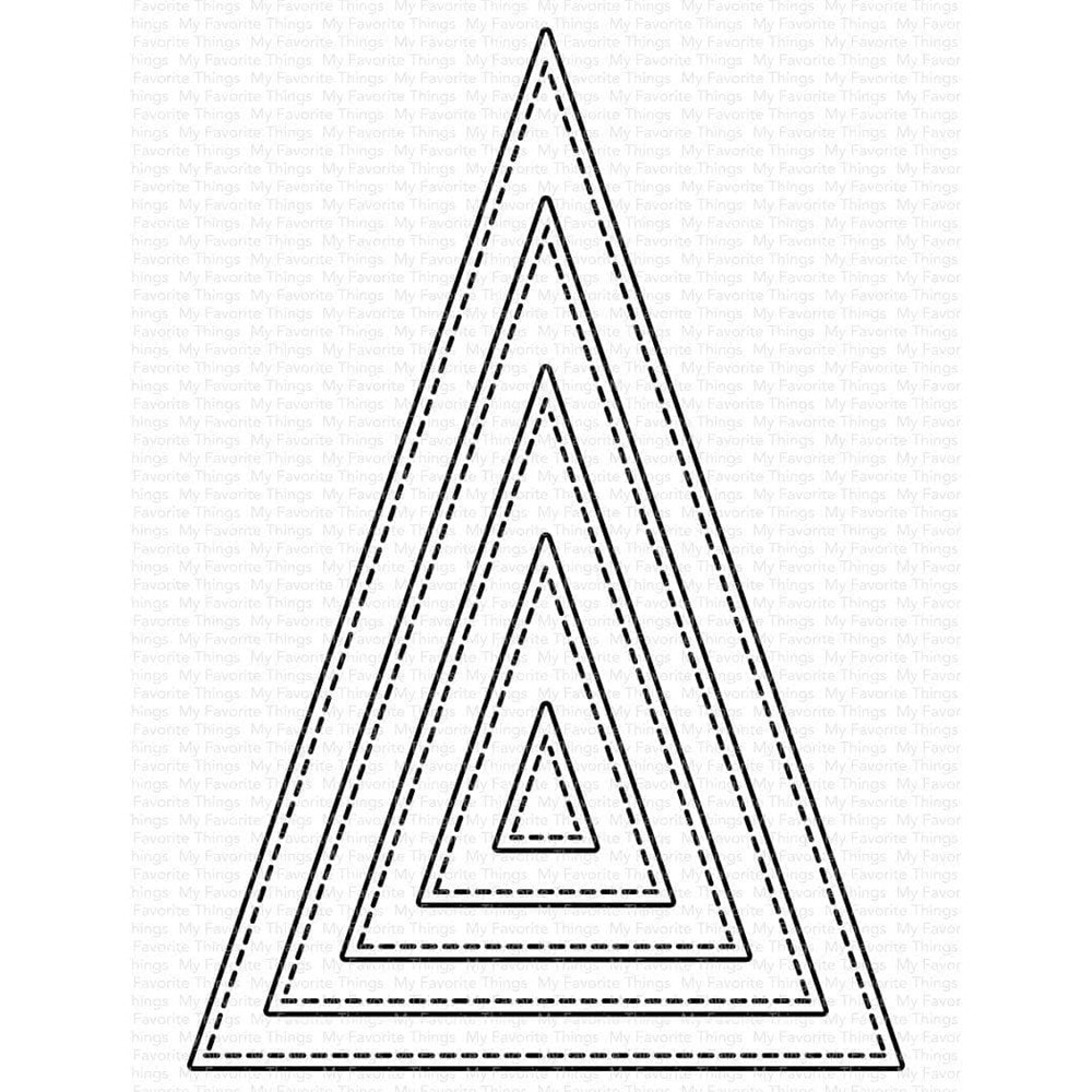 My Favorite Things STITCHED TALL TRIANGLE STAX Dies Die-Namics mft2106 zoom image