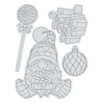 Couture Creations CHRISTMAS PRESENTS Stamp And Color Outline Set co728504*