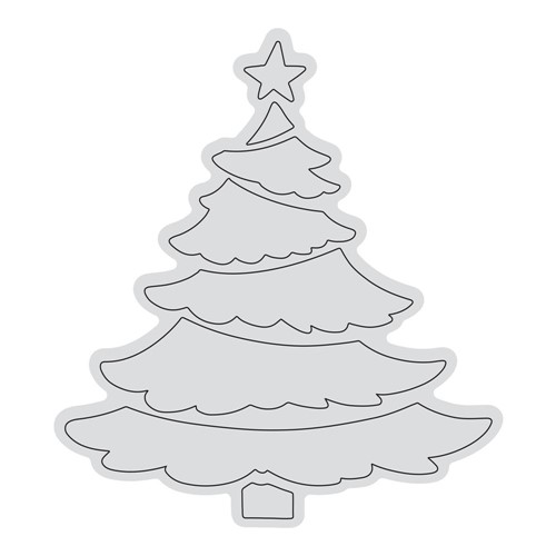 Couture Creations TIERED TREE OUTLINE Clear Stamp Set co728526 Preview Image