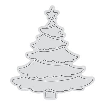 Couture Creations TIERED TREE OUTLINE Clear Stamp Set co728526