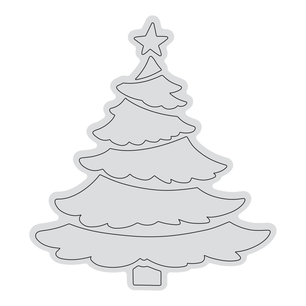 Couture Creations TIERED TREE OUTLINE Clear Stamp Set co728526 zoom image