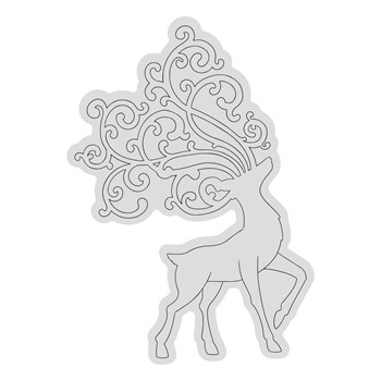 Couture Creations PROUD REINDEER OUTLINE Clear Stamp Set co728527