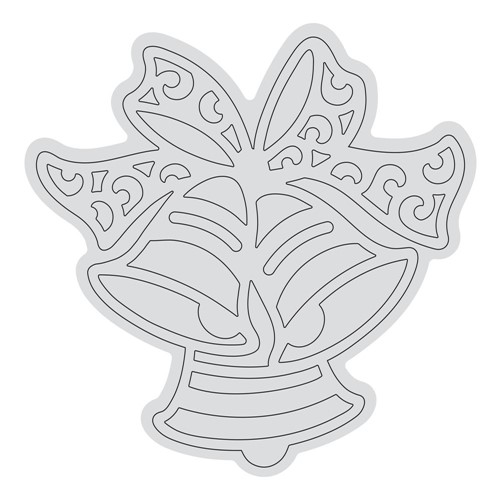 Couture Creations RINGING BELLS OUTLINE Clear Stamp Set co728528 Preview Image