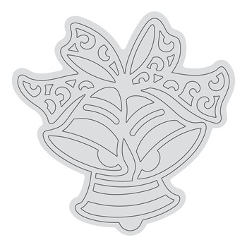 Couture Creations RINGING BELLS OUTLINE Clear Stamp Set co728528