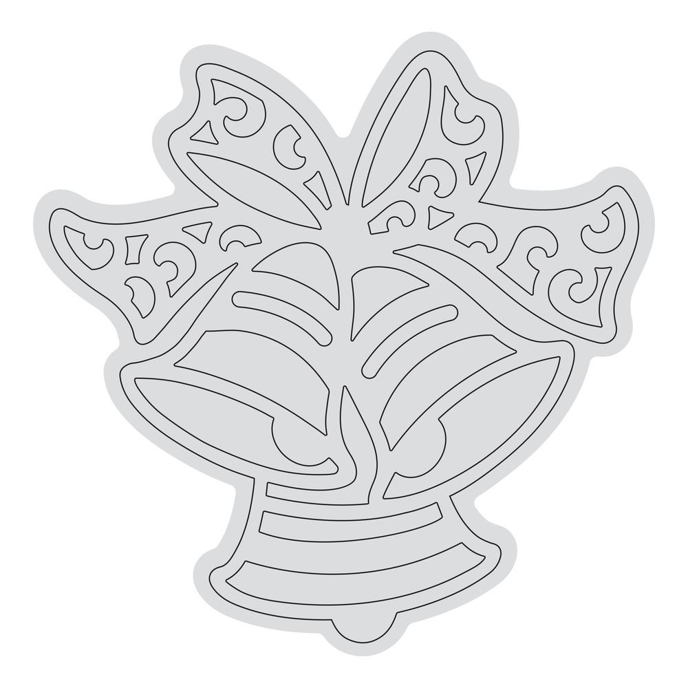 Couture Creations RINGING BELLS OUTLINE Clear Stamp Set co728528 zoom image