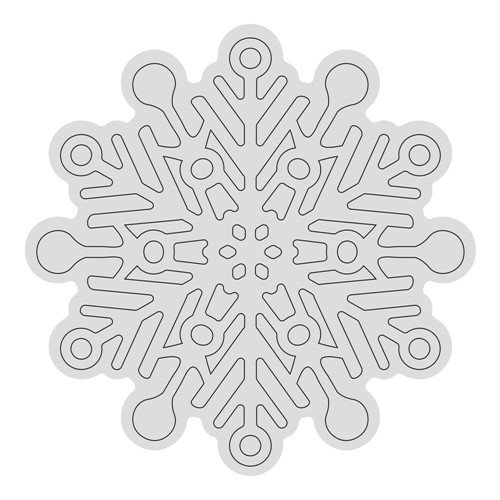 Couture Creations SNOWFLAKE OUTLINE Clear Stamp Set co728529 Preview Image