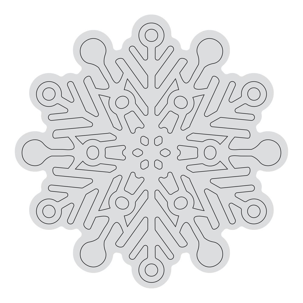 Couture Creations SNOWFLAKE OUTLINE Clear Stamp Set co728529 zoom image