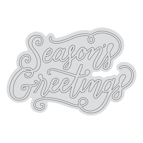 Couture Creations SEASON'S GREETINGS OUTLINE Clear Stamp Set co728530 Preview Image