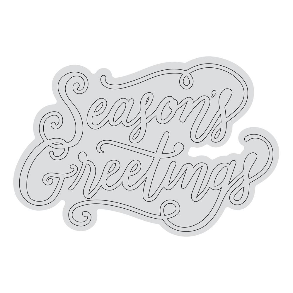 Couture Creations SEASON'S GREETINGS OUTLINE Clear Stamp Set co728530 zoom image