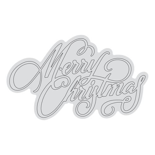 Couture Creations MERRY CHRISTMAS OUTLINE Clear Stamp Set co728531* Preview Image