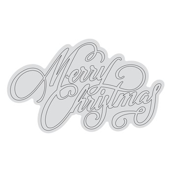 Couture Creations MERRY CHRISTMAS OUTLINE Clear Stamp Set co728531*