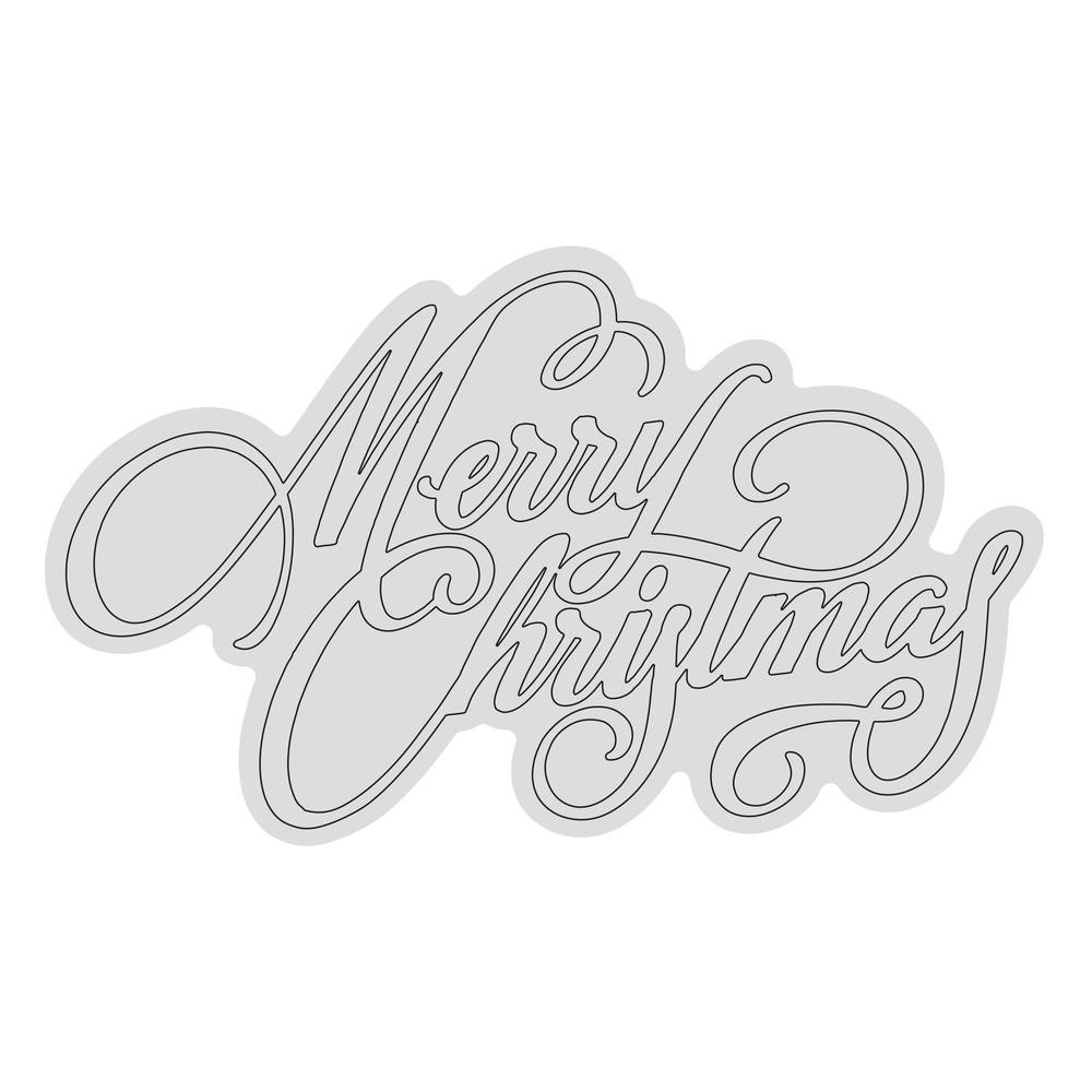 Couture Creations MERRY CHRISTMAS OUTLINE Clear Stamp Set co728531* zoom image