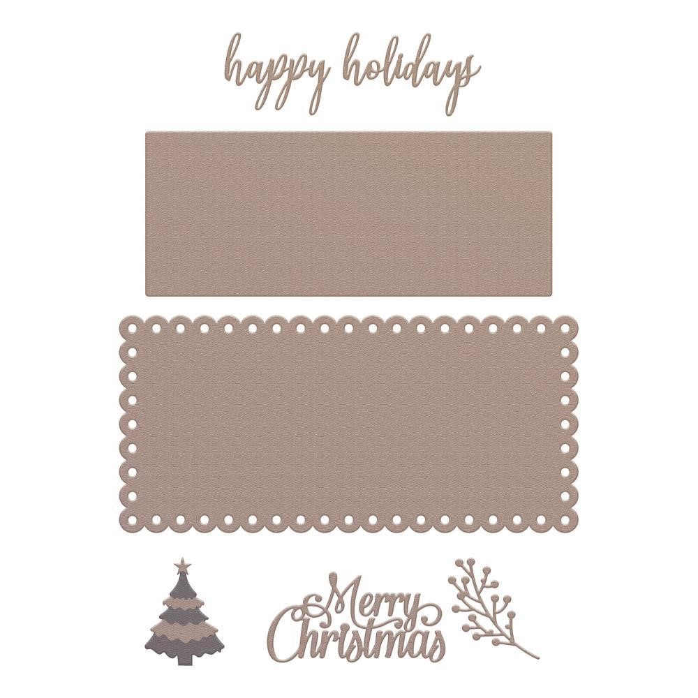 Couture Creations HAPPY HOLIDAYS Slimline Die Set co728532 zoom image
