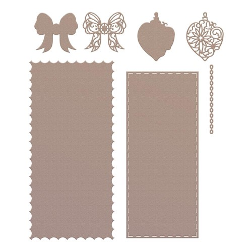 Couture Creations HANGING BAUBLE Slimline Die Set co728539 Preview Image