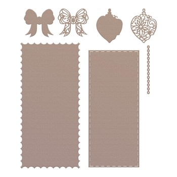 Couture Creations HANGING BAUBLE Slimline Die Set co728539