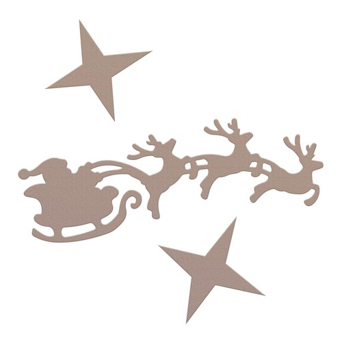 Couture Creations SANTA'S SLEIGH Mini Die co728567 Preview Image